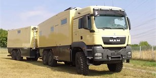 Unicat proměnil MAN TGS v úchvatné obytné vozidlo s vlastní dílnou